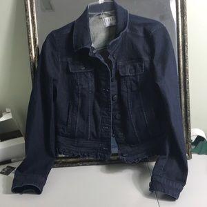 Elle cropped jean denim jacket Sz M